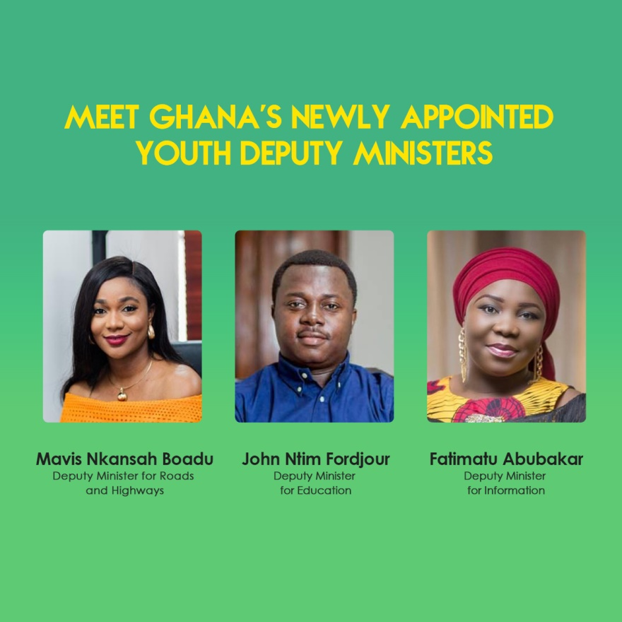MEET GHANA'S NEWLY APPOINTED YOUTH DEPUTY MINISTERS