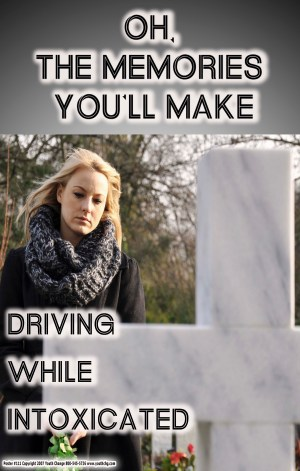 don't drive drunk teen school poster