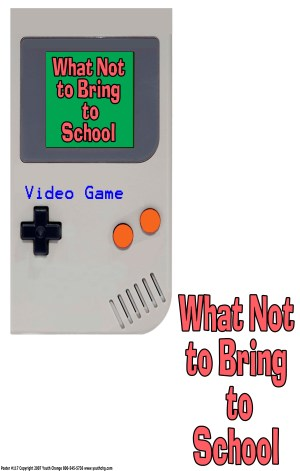 video game school poster