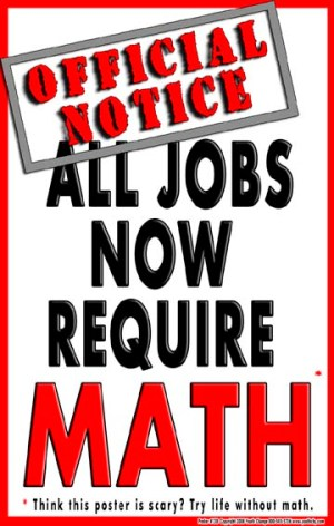 motivational math poster