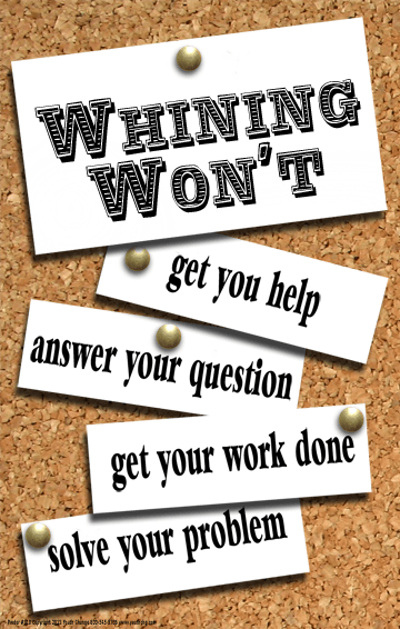 stop whining classroom poster