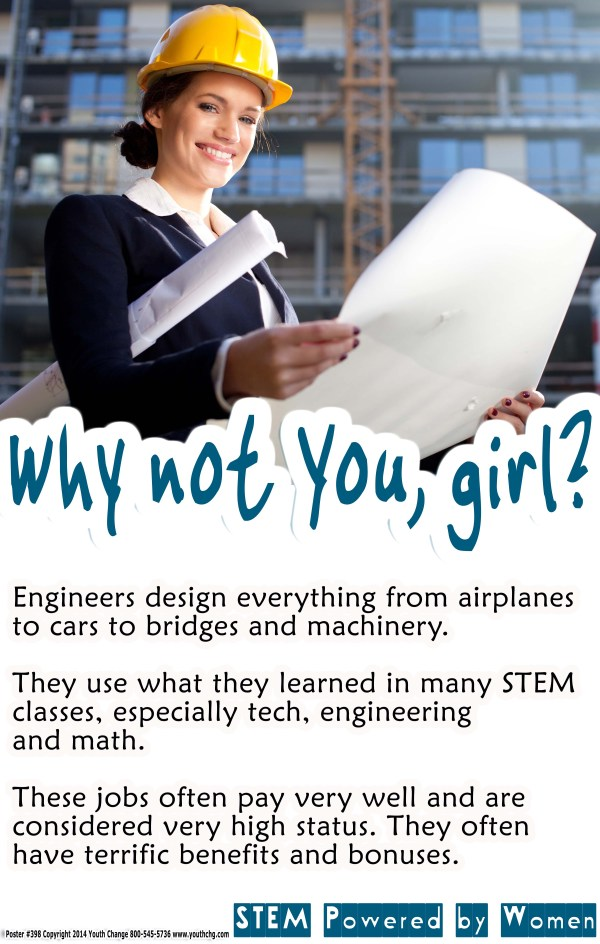 girls Classroom STEM engineering poster
