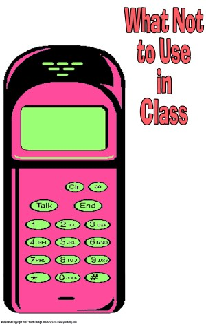cell phone classroom poster
