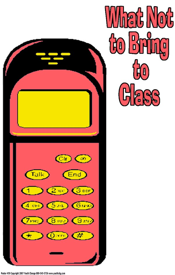 no cell phones in class poster