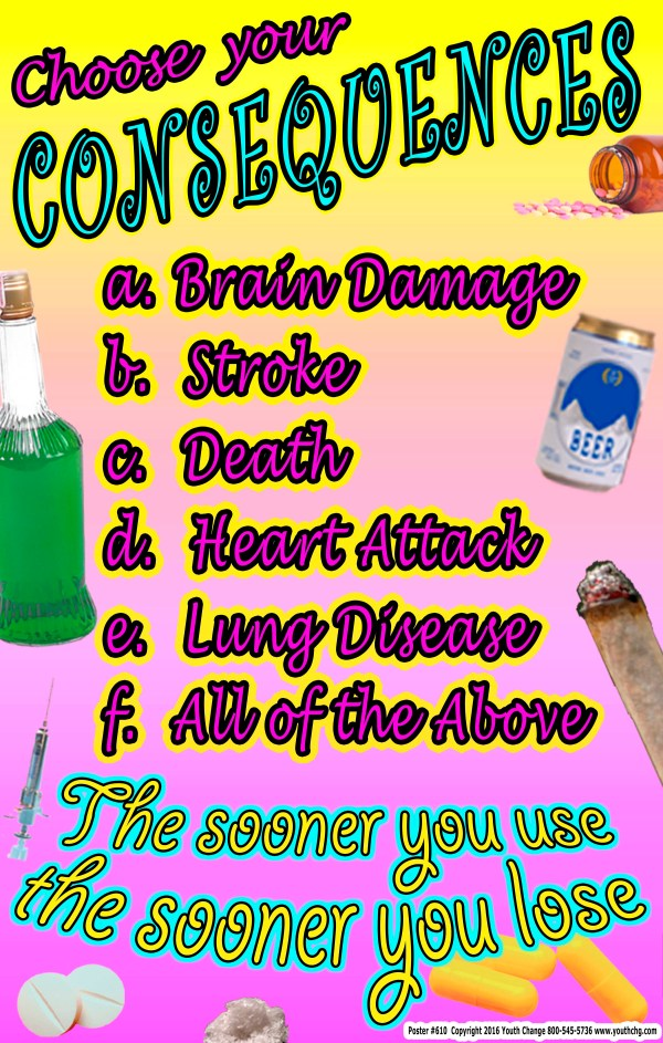 teen alcohol abuse poster