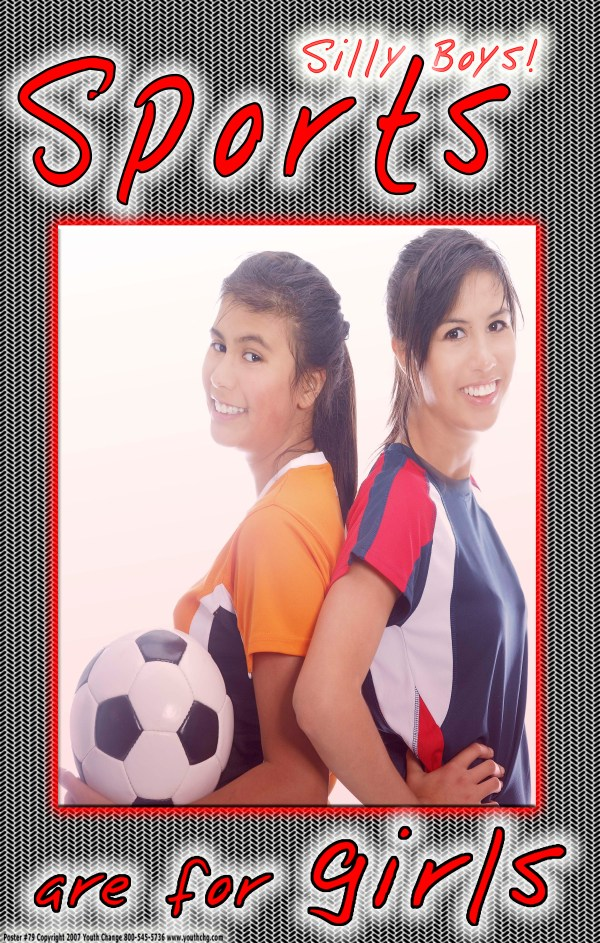girls' inspirational sports poster
