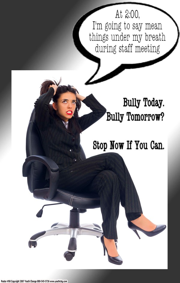 middle school stop bullying poster