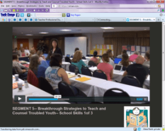 teacher online professional development course