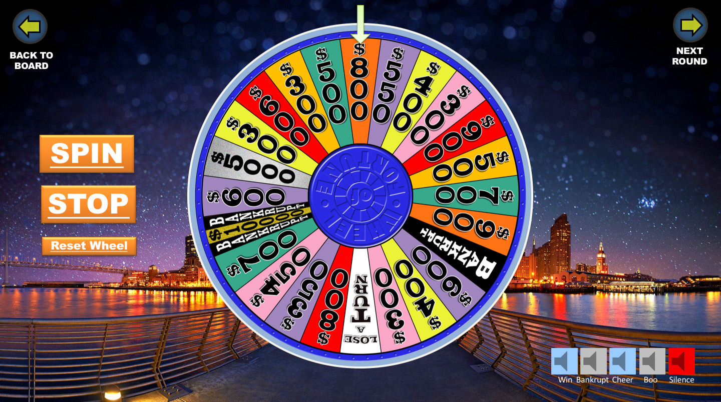 Wheel Of Fortune Powerpoint Game
