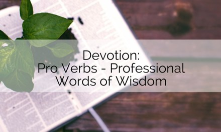 Devotion: Pro-Verbs: Professional Words of Wisdom
