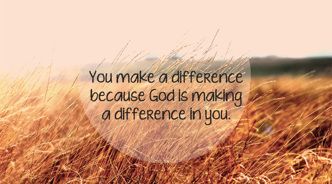 Devotion: You…Make a Difference