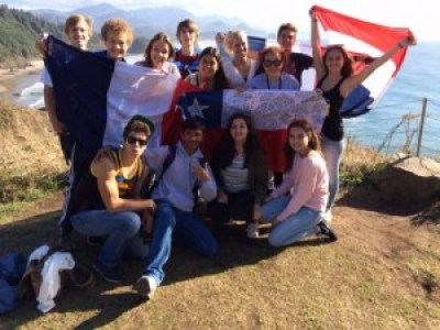 Inbound Exchange Students at Ecola State Park on Oregon Coast