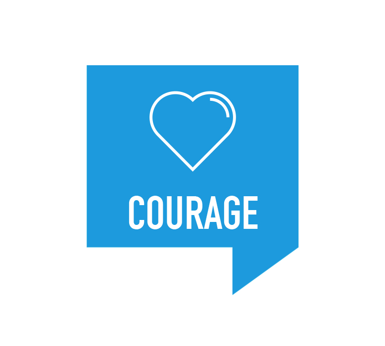Courage Retreat Icon with Heart