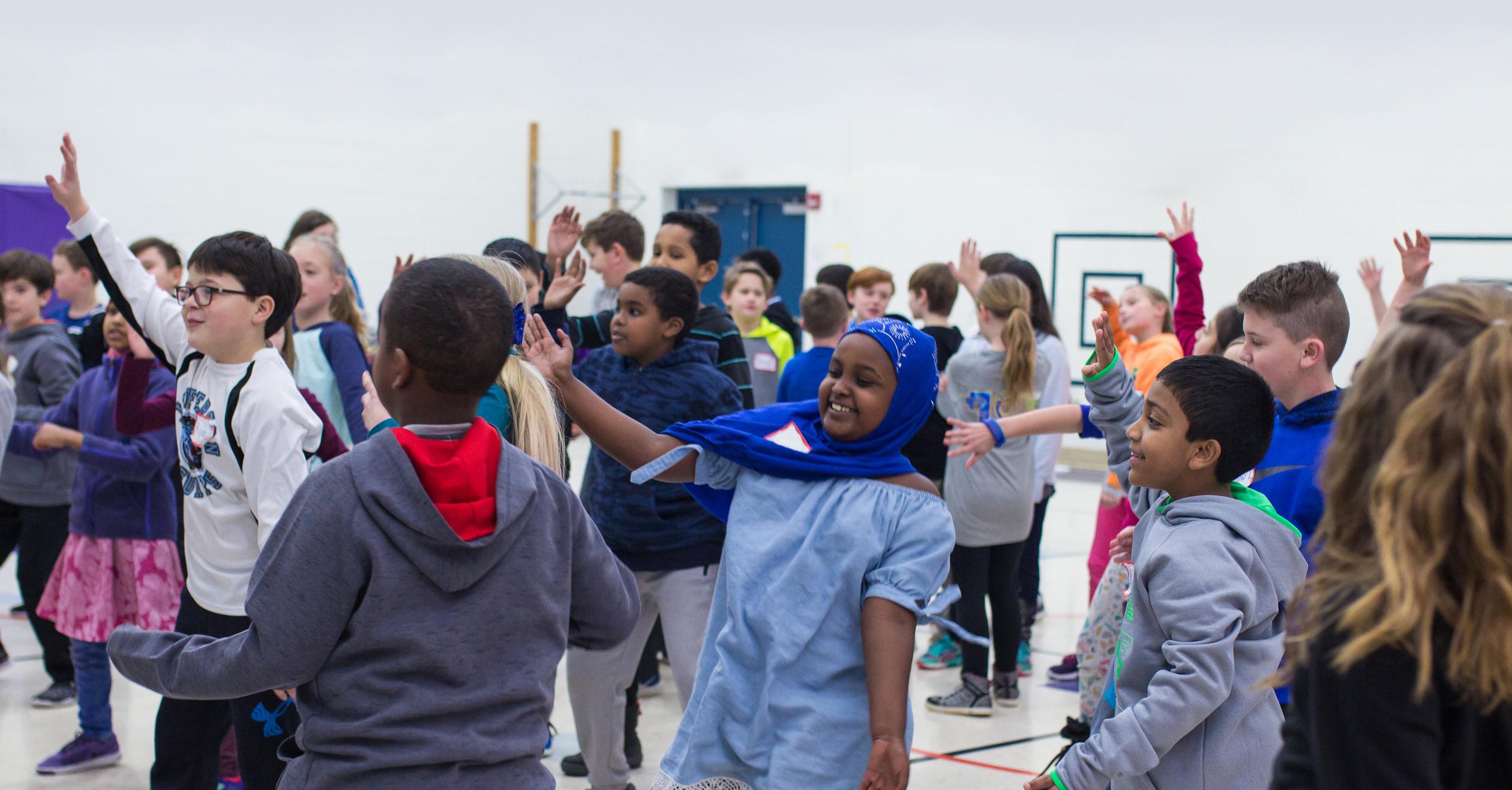 Kids dancing on a Kindness Retreat