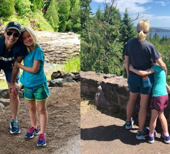 Christy and her daughter on a hiking trip