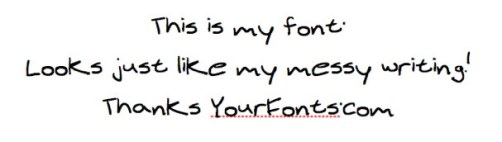 Make Your Handwriting a Font