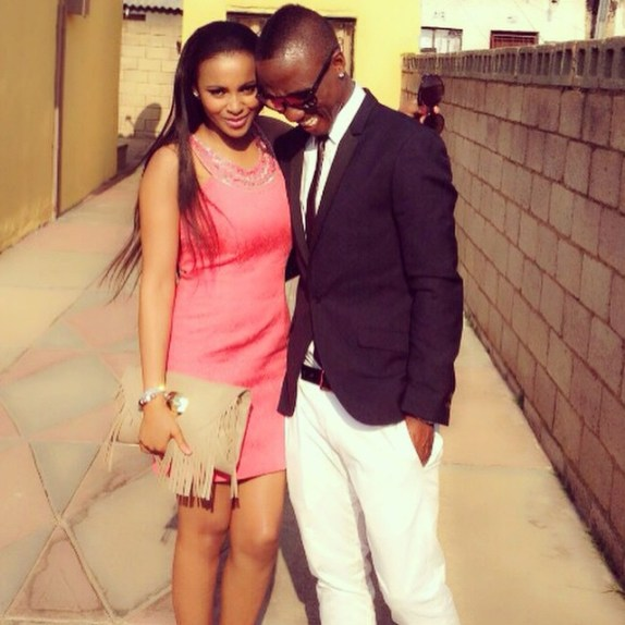 Teko Modise and Lizelle