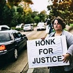 honk for justice photo