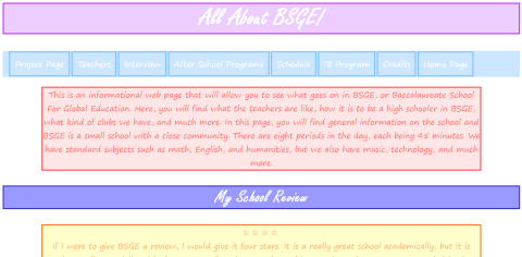 Unit 2 Technology Project: Informational Website on BSGE