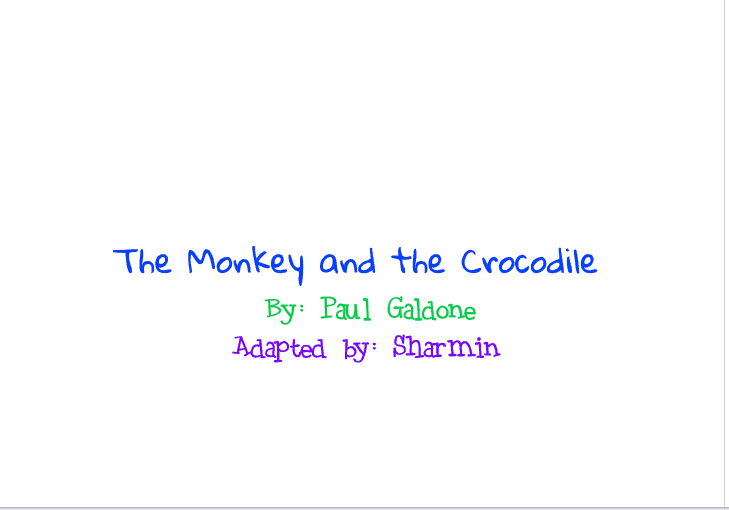 The Monkey and the Crocodile-- Remixed