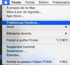 menu pomme pref systeme