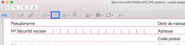 2Editer un texte dans un pdf
