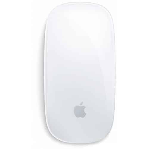 Les gestes de la souris apple Magic Mouse sur Mac: tapoter avec 2 doigts pour zoomer