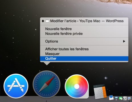 quitter une application mac 2