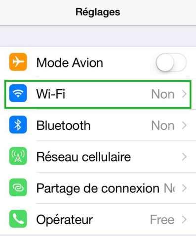 Comment activer ou désactiver le wifi 1