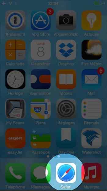 Comment faire une recherche internet sur plusieurs pages sur l'iphone2-2