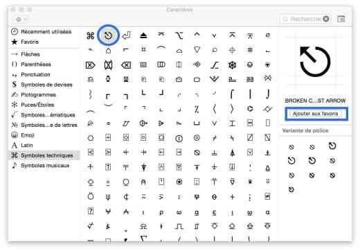 Les caractères spéciaux sur OS X 100007