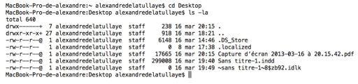 De la manipulation des visibilités de fichiers et de leur localisation via le terminal2
