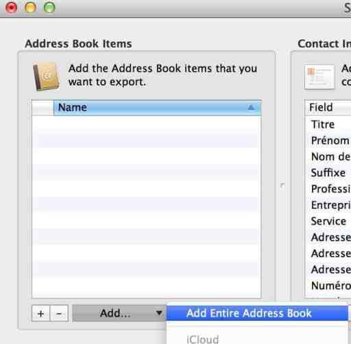 exporter le carnet d'adresse du mac vers un pc ou un autre logiciel 3