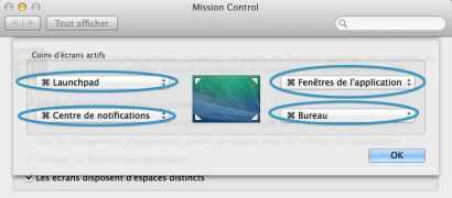 Mission Control définissez des fonctions sur les 4 coins de l'écran de votre Mac 3