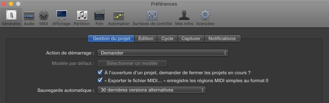 preferences logic pro x