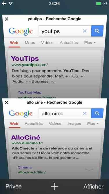 Comment faire une recherche internet sur plusieurs pages sur l'iphone12