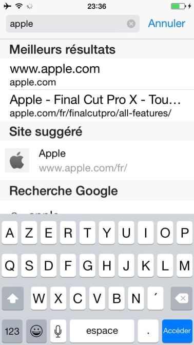 Comment faire une recherche internet sur plusieurs pages sur l'iphone13