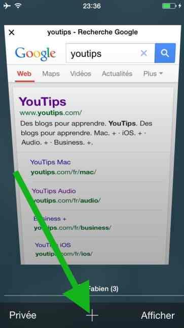 Comment faire une recherche internet sur plusieurs pages sur l'iphone8