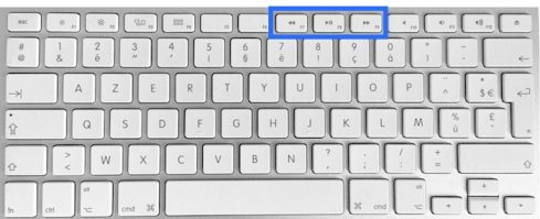 clavier Apple Bluetooth F7 F8 F9