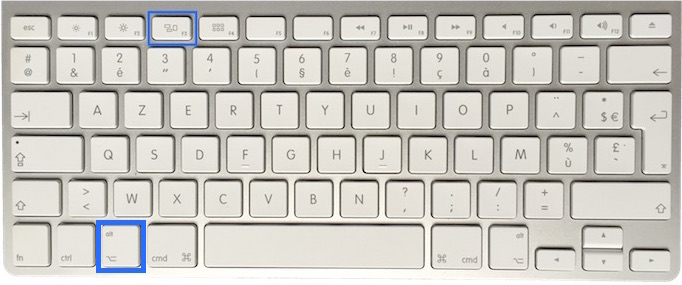 clavier Mac Apple touche F3 3