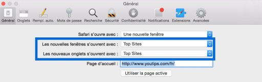 Ajouter un signet à Top Site sur Safari4