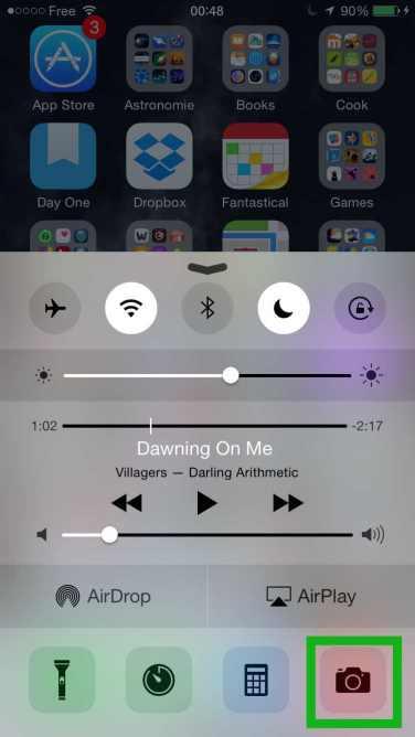 Centre de controle iOS