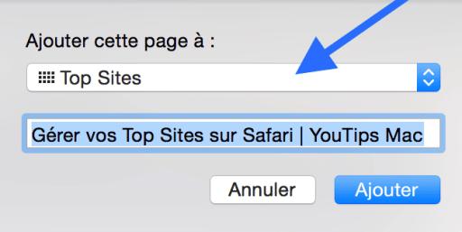 Gérer vos Top Sites sur Safari2