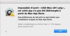 Impossible d'ouvrir « Install.pkg », car cette app n'a pas été téléchargée à partir du Mac App Store6