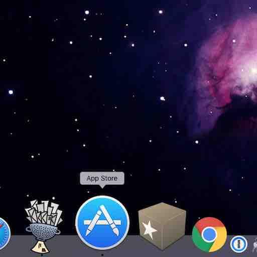 Conserver une application dans le dock du Mac