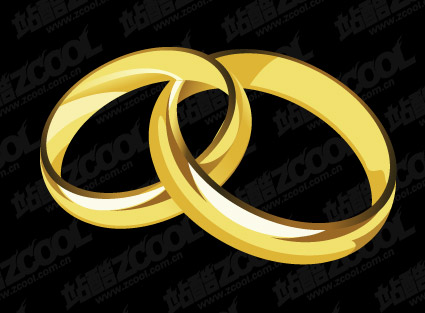 A Pair Of Gold Rings Vector MaterialDownload Free Vector