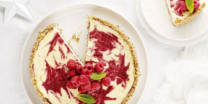 Berry Swirl Cheesecake I Quit Sugar