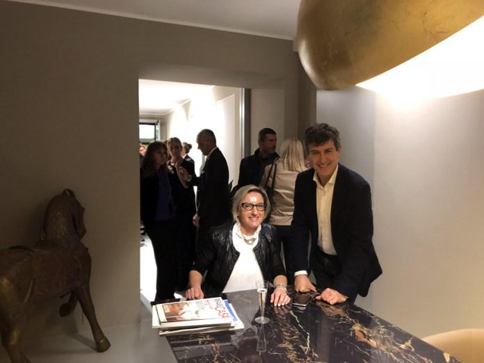 Daniela De Faveri, titolare di Eclisse, nello showroom milanese