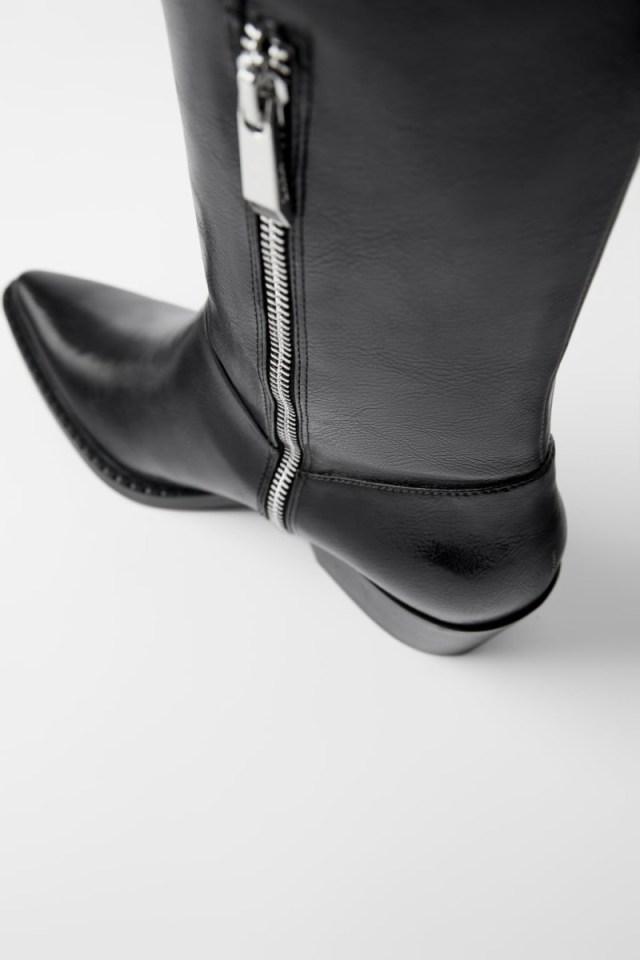 Zara μαύρες μπότες