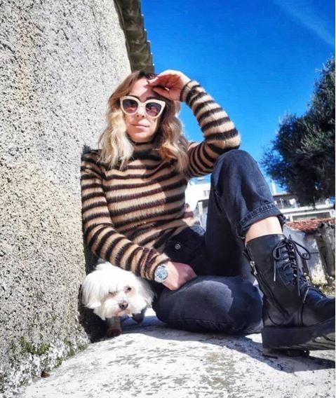 Μελίνα Ασλανίδου μποτάκια μόδα instagram